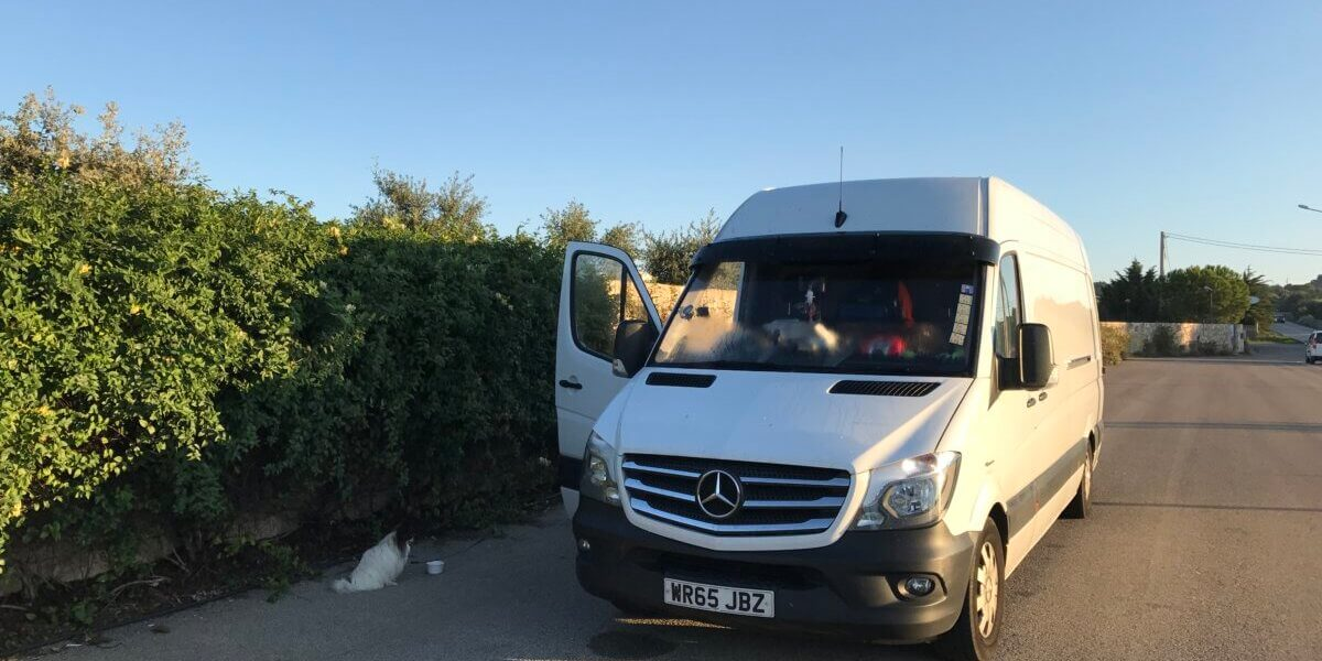 Man and Van load from Puglia, Italy